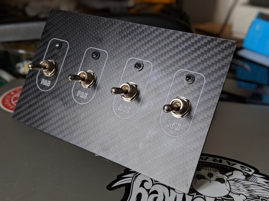 MM Carbon Fibre Switch Panel