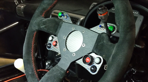 MM Carbon Fibre Steering Wheel Button Panel