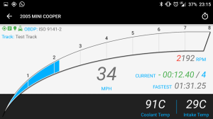Android Dash Display Split Time