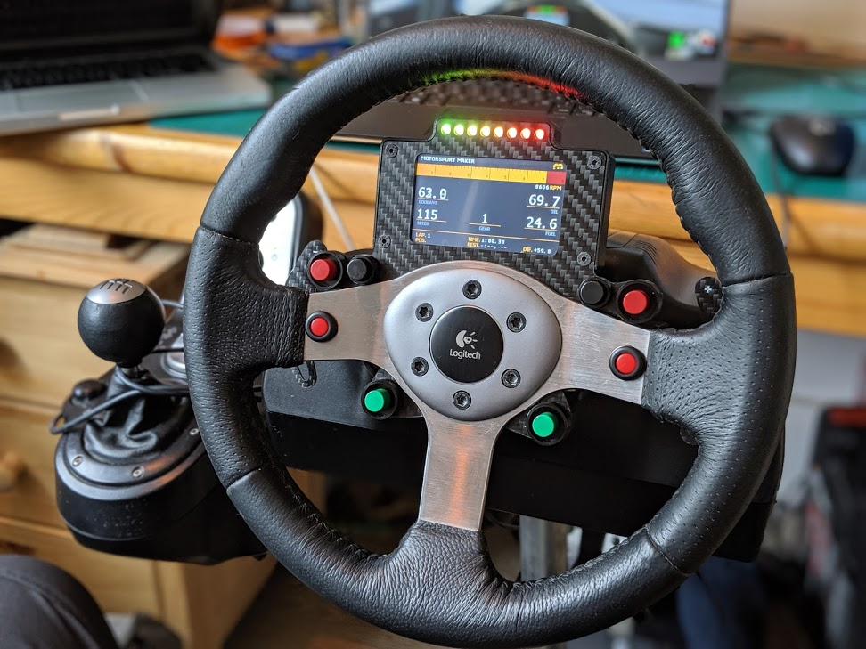 Logitech G25 Carbon Button Panel and Nextion Display – Motorsport Maker